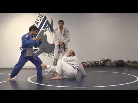 Gracie Jiu-Jitsu Martial Arts Demonstration 2, Standing Up In Base, Headlock Defense
