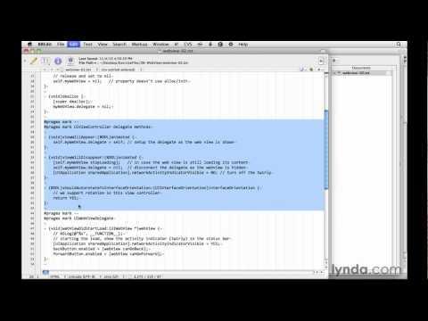 iOS app development tutorial: Coding a web view   lynda.com