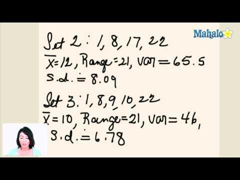 Statistics: Range, Variance and Standard Deviation (ex.5)