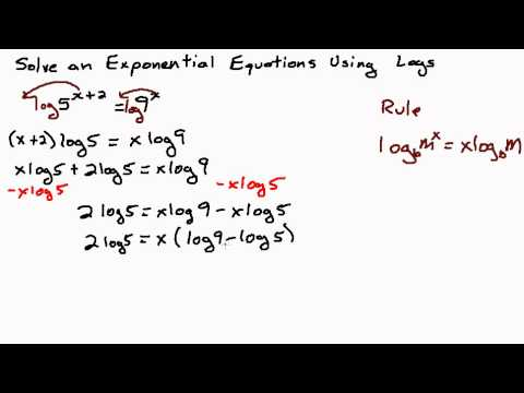 Solve Exponential Equation Using Logs