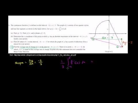 2011 Calculus AB Free Response #4d