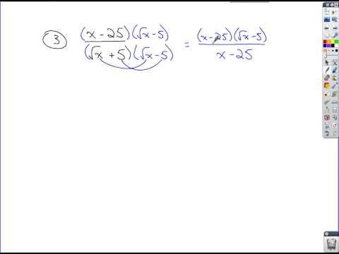 Algebra Review - Rationalizing Expressions