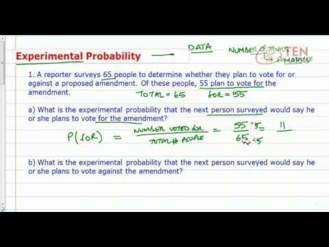 Experimental Probability (Surveys)