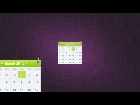 Create a Sleek Calendar Icon - Photoshop Tutorial