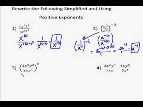 A18.6 Quotient of Powers Examples