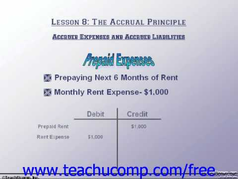 Accounting Tutorial Accrued Expenses & Accrued Liabilities Training Lesson 8.2