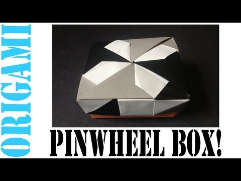 Origami Daily - 012: (Pinwheel Ver. 1) Square Box Lid - TCGames [HD]