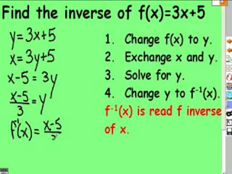 103 Compositions and Inverse Functions