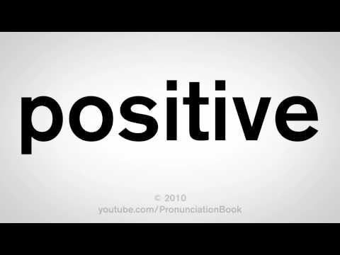 How to Say Positive