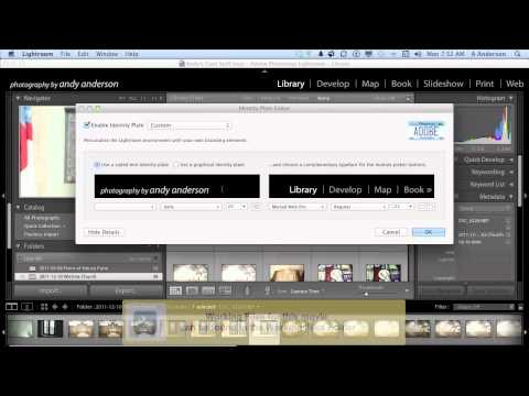 Adobe Photoshop Lightroom 4 Tutorial | Creating Customized Identity Plates