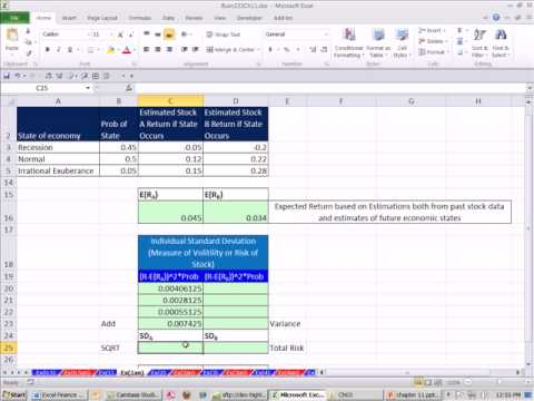 Excel Finance Class 104: Expected Return & Standard Deviation For 1 Stock -- Estimating Future