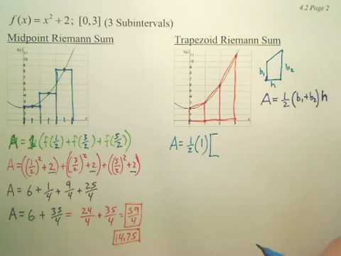 4.2b Area Approximation Methods - Calculus