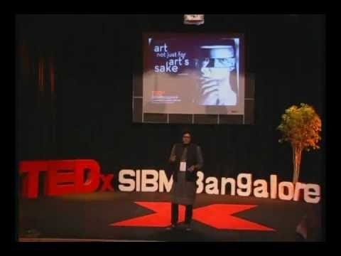 "TEDxSIBMBangalore - Mr. Rupesh Patric ""The Charcoal Artist"" - Art Not Just For Art's Sake"
