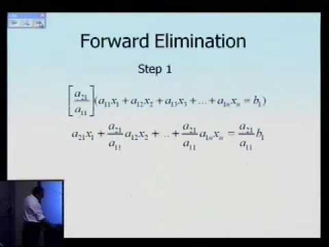 Naive Gaussian elimination: Theory: Part 1 of 2