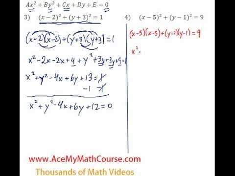 Conics - Standard to General - Question #4