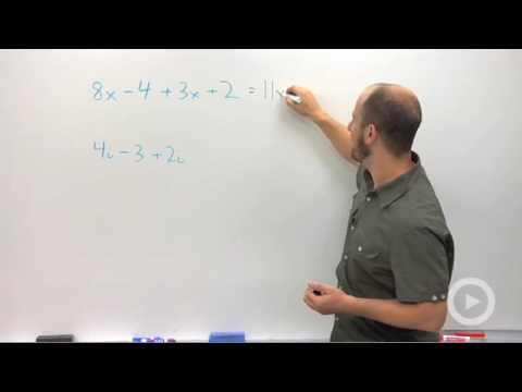 Algebra 2 - Adding and Subtracting Complex Numbers
