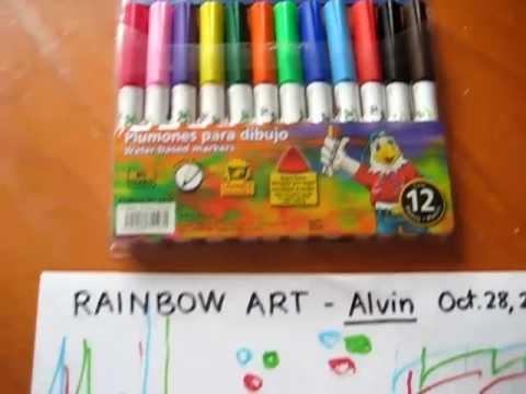 Arts and Crafts. Rainbow art