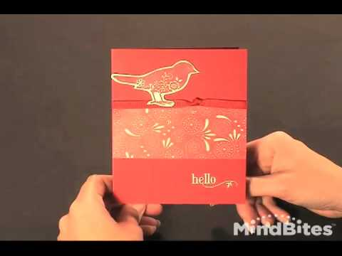 Red and Green Bird Hello Greeting Card