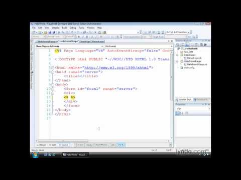 ASP.NET: Creating pages with dynamic output   lynda.com