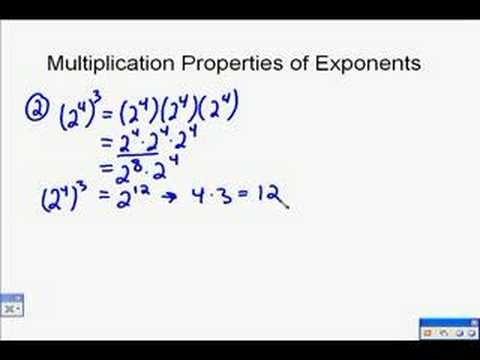 A18.0 Exponent Properties