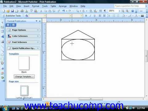 Publisher Tutorial Inserting AutoShapes and Custom Shapes Microsoft Training Lesson 5.3