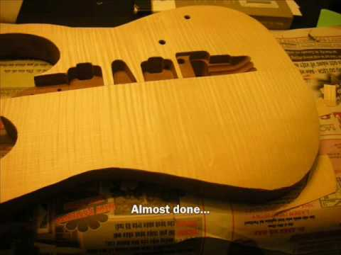 DIY GUITAR - Part 8:  Applying Veneer