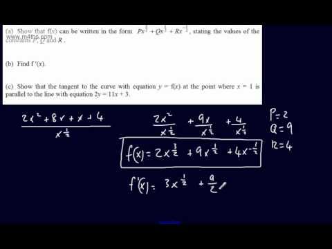 (Q6) Core 1 Mock Paper Edexcel