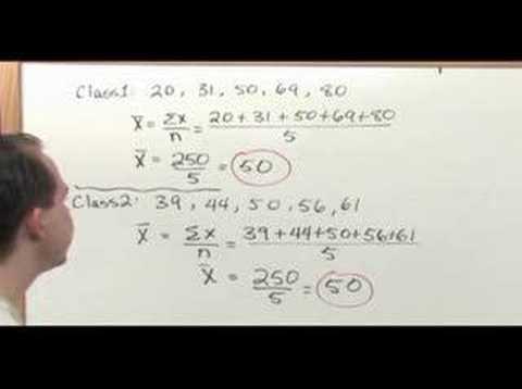 Probability & Statistics Tutor -Sample 3 -Standard Deviation