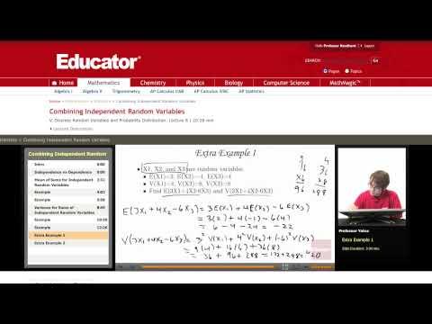 Statistics: Combining Independent Random Variables