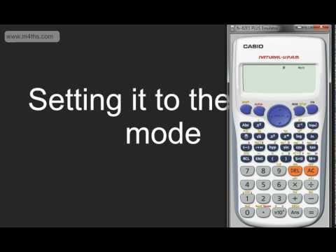 Using the Casio Fx83 or Fx85 Calculator -  Basic Tutorial Part 1