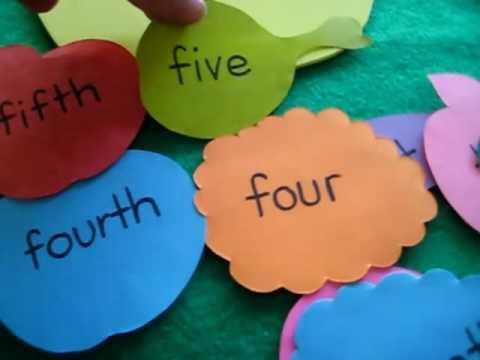 Grade 1 - Math. Cardinal Ordinal numbers food
