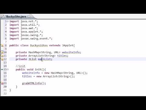 Intermediate Java Tutorial - 30 - init for Networking Applet