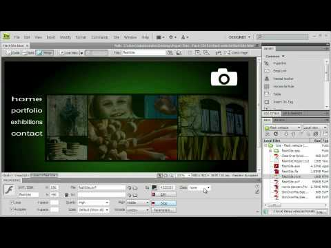 Adobe Flash CS4 Ch 9  PUBLISHING YOUR SITE Dreamweaver Integration