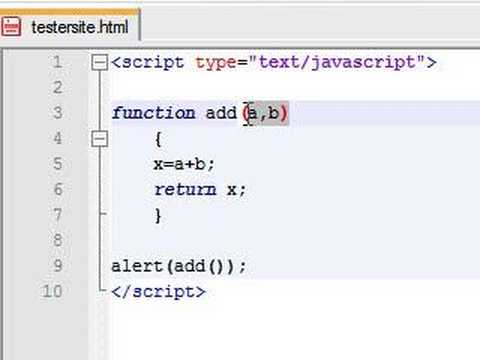 Javascript Tutorial - 12 - Parameters in Functions