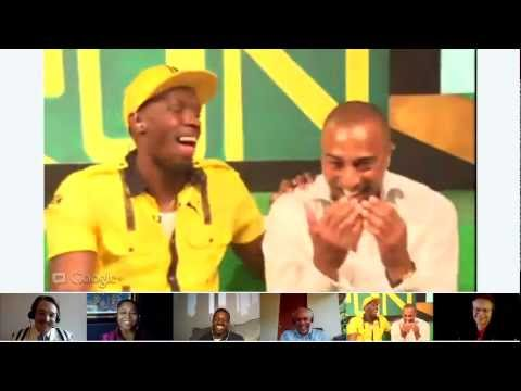 Hangout On Air with Usain Bolt before the Olympics