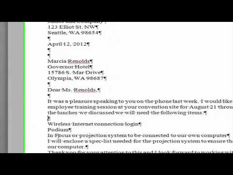 "Saylor PRDV 003: Word Processing - ""Creating a Block Style Business Letter"""