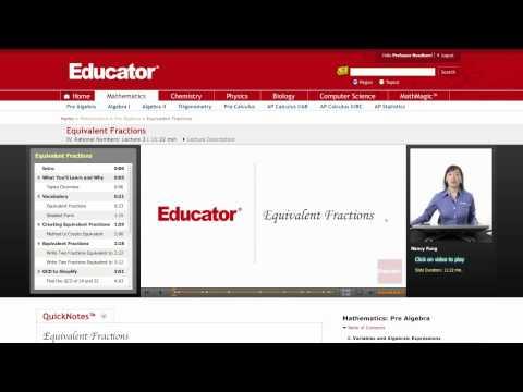 Pre Algebra: Equivalent Fractions