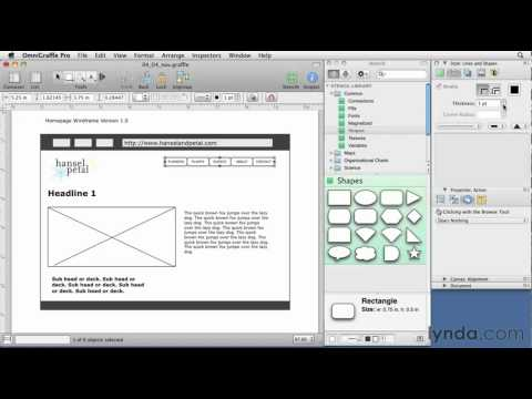 OmniGraffle: How to wireframe a navigation bar | lynda.com tutorial