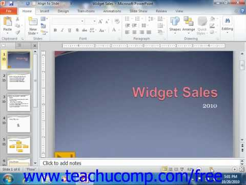 PowerPoint 2010 Tutorial The Zoom Slider Microsoft Training Lesson 1.10
