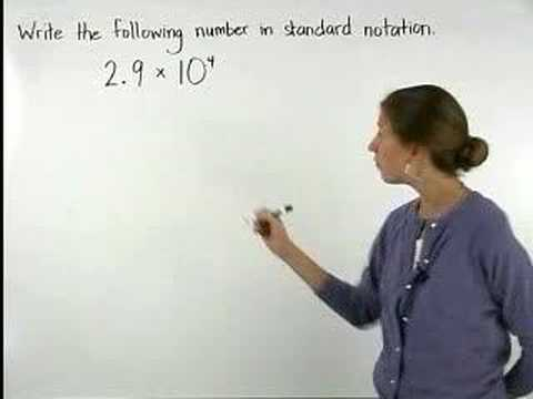 Scientific Notation - YourTeacher.com - Pre Algebra Help