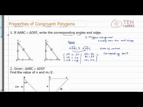 Properties of Congruent Polygons