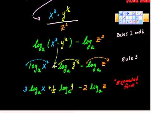 Laws of Logarithms Using loagrithms to solve equations