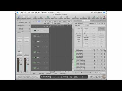 Apple Logic Pro 8 Ch 1 Quick Start - Adding Audio and MIDI Loops