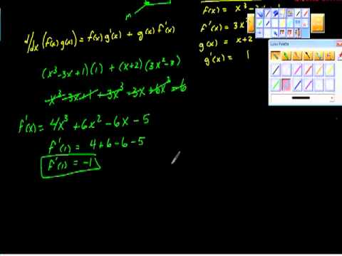 Tangent Line Product Rule Calculus I