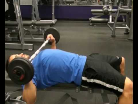 Bench Press, Flat Bench, Small Barbell