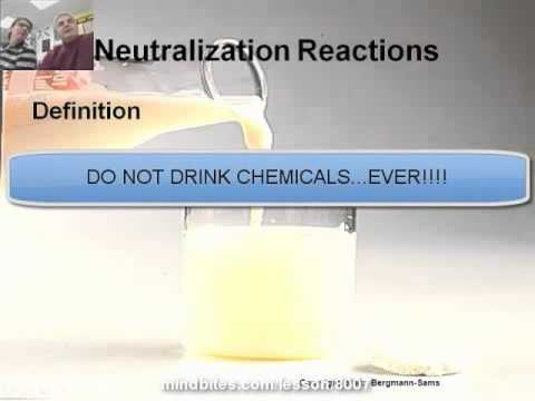 Intro to Chemistry 10.4:  Neutralization Reactions