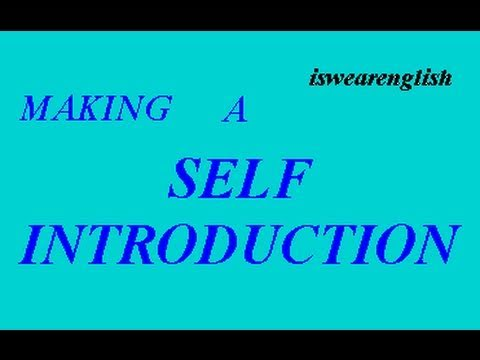 Making a SELF INTRODUCTION - ESL British English Pronunciation