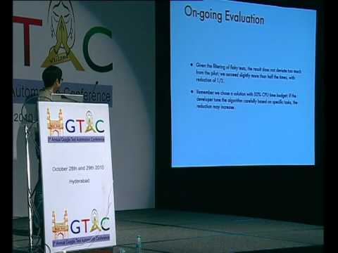 GTAC 2010: Early Test Feedback by Test Prioritisation