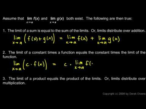 Calculus 2.4a - The Limit Theorems