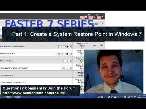 How To Create A Windows 7 System Restore Point - Ep. 1